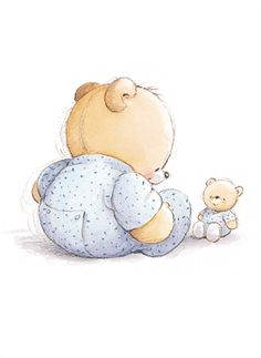 Forever Friends -- Cute idea for a patch Baby Images, Cute Images, Cute Pictures, Tatty Teddy, Watercolor Card, Blue Nose Friends, Baby Clip Art, Art Anime, Love Bear