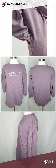 NWT Girls Purple Dress Faded Glory Smocked Top Puff Cap Sleeve Cute Fashion