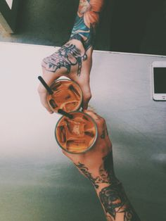 mmm iced coffees & tattooos