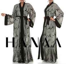 Floral Embroidery Open Abaya