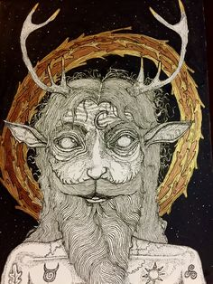 Cernunnos; The Horned one. -Clinton Meister 2016