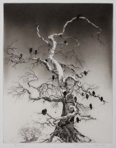 iamjapanese:  Mildred Bryant Brooks(American, 1901-1995) November    1939 Etching and aquatint on thin Japanese paper