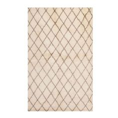 Taza Hand Knotted Rug, BROWN ON CREAM,