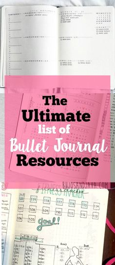 A thorough list of bullet journal resources Bullet Journal Hacks, Bullet Journal Spread, Bullet Journal Layout, Bullet Journal Inspiration, Bullet Journals, Journal Prompts, Journal Pages, Journal Ideas, Life Journal