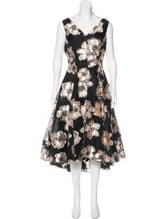 Lela Rose A-line Floral Dress - Clothing - LEL27960 | The RealReal