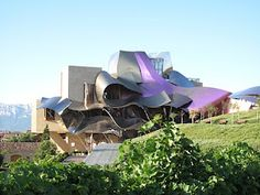 Frank Gehry's hotel at the Marques de Riscal vineyards