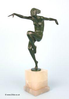 lorenzl art deco bronze speed