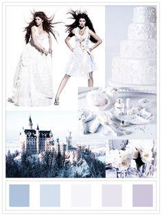 bavarian winter dream:dirndl couture dresses: ophelia blaimer; location: neuschwanstein castle; cake: brides.com
