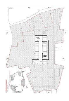Nivel -1 Conjunto de Viviendas en San Andrés, Jaén (Concurso, 2004)