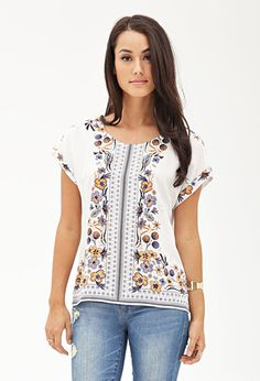 Paisley Floral Batwing Tee | FOREVER 21 - 2000104841