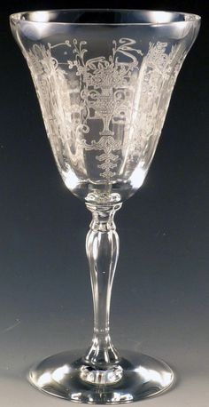1 Vintage Fostoria Etched Iced Tea Clear Glass NOSEGAY Pattern-