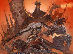 Soul Saga, Dark Souls 2, Demon's Souls, Soul Tattoo, Bear Art, Bloodborne, Creature Design, Game Art, Illustrators