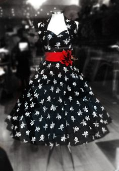 skull and crossbones dress