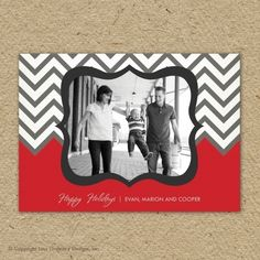 Card with chevron
