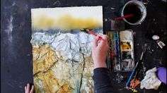 Wistia video thumbnail - USING TISSUE PAPER & GESSO FOR ROCKY TEXTURES (Part 4)