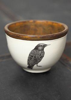 pottery *black bird* mug Pottery Bowls, Ceramic Pottery, Pottery Art, Ceramic Clay, Ceramic Bowls, Cerámica Ideas, Kitchenware, Tableware, Serveware