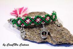 Friendship bracelet by ConCHa Catena 15.90€ - dawanda.com #friendshipbracelet #friendship #bracelet #ethno #hamsahand #freundschaftsband #handmade #present