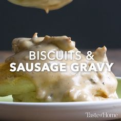 This is an old Southern biscuits and gravy recipe that I've adapted. Homemade sausage gravy is a classic, hearty breakfast that takes you on a trip to the South every time it's served. Homemade Gravy For Biscuits, Homemade Sausage Gravy, Sausage Gravy And Biscuits, Sausage Gravy Recipe, Paula Deen, Brunch Recipes, Breakfast Recipes, Breakfast Casserole, Biscuit Recipe
