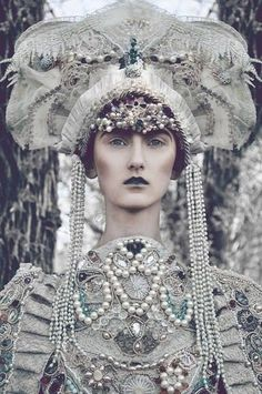 Creative Fashion: Costumes fitted for a Gothic Queen by Polish fashion designer Agnieszka Osipa.