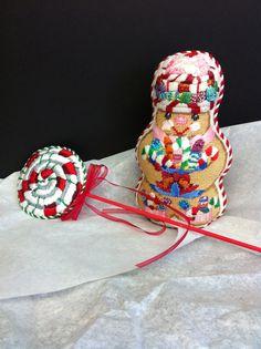 Needlepoint Gingerbread boy from Ridgewood Needlepoint Blog