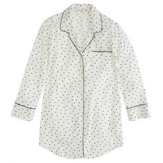 Nightshirt in polka-dot flannel - For Her - GiftGuide's 101 GIFT IDEAS - J.Crew