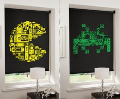 8-Bit Gaming Blinds. Hopefully the next house we have has windows in the Man Cave.