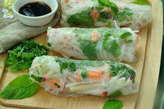 sajgonki z chrupkimi warzywami Fresh Rolls, Sushi, Food And Drink, Vegan, Ethnic Recipes, Anna, Australia, Lifestyle, Vegans