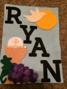 Communion banner! One of my first Pinterest attempts!