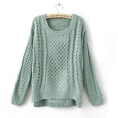 Winter Woolen Weave Pattern Round Neck Sweater 5 Colors