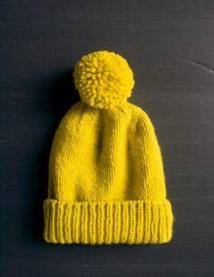 DIY Classic Cuffed Hat - FREE Knitting Pattern / Tutorial