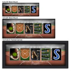 Softball Photo Name Art Canvas Frame Name Art Photo Name Art