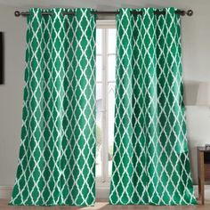 Duck River Kittattinny Heavy Blackout Grommet Pair Curtain Panel Emerald - KITTATTINNY 11323D=6