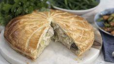 John Torode's chicken, leek and mushroom pie
