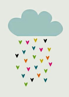 The cloud is the most emphasized feature of this poster. Graphic Prints, Art Prints, Karten Diy, Cute Illustration, Cute Wallpapers, Art For Kids, Iphone Wallpaper, Doodles, Artsy