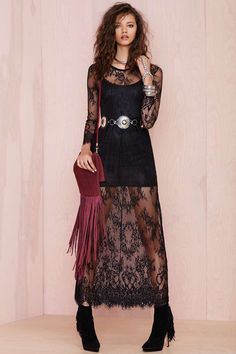 Reverse Lace Lady Dress