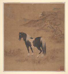 Horse and Landscape. Qing dynasty (1644–1911). China. The Metropolitan Museum of Art, New York. Rogers Fund, 1930 (30.84) #horses