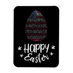 #Happy Easter and Easter egg with American flag Magnet - customized designs custom gift ideas