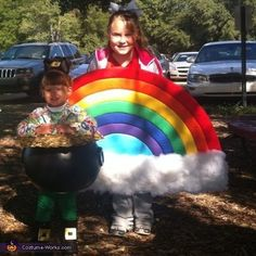 Rainbow and Pot of Gold - DIY Halloween costumes