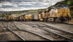 Union Pacific coal trains.  Phippsburg, Colorado.