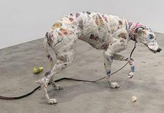 Planeta Bicho » Artista louco por anatomia ganha exposição solo em NY ao reproduzir cães de raças diversas com jornal » Arquivo