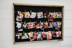 Pictures displayed on Sugarboo Designs Memory Board #circus #birthday #carnival #picturedisplay