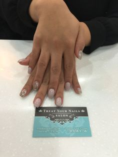 Gel Manicure with Accent Nail Design #Atlanta #nailsalon