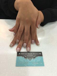 Gel Manicure with Accent Nail Design #Atlanta #nailsalon