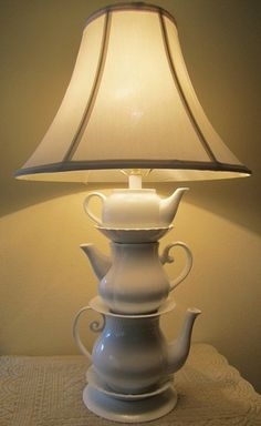 White teapots, beautiful.