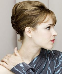 Rachel McAdams Updo - Straight Formal Hairstyle | TheHairStyler.com