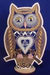 371 Brief Eule 2 Nocturne, Lace Heart, Lace Jewelry, Bobbin Lace, Lace Detail, To My Daughter, Insects, Butterfly, Birds