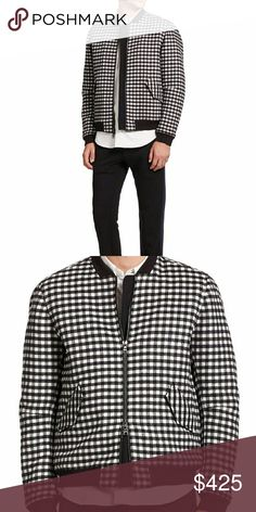 Timo Weiland Plaid Bomber Jacket NWT size XL Timo Weiland Plaid Bomber Jacket NWT. Two way zipper. Welt pockets at sides,  ribbed at collar, cuffs and hem. Quilted lining. Timo Weiland  Jackets & Coats