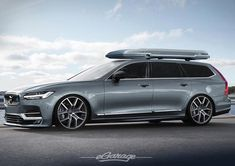 The #Volvo #V90 #polstar #wagon with that certain #StationWeapon 2 feel about it (rendering) #eGarage by egarage