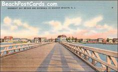 Barnegat Bay Bridge Entrance to Seaside Heights NJ Ca. 1940s