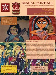 Bengal Paintings - workshop by Patua artist @ Atta galatta - http://explo.in/1TQCfrk #Bangalore #Art